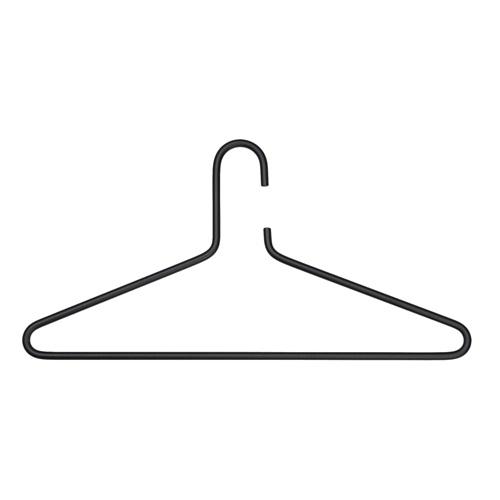 Spinder Design Senza 6 kledinghanger Set van 3 - Zwart