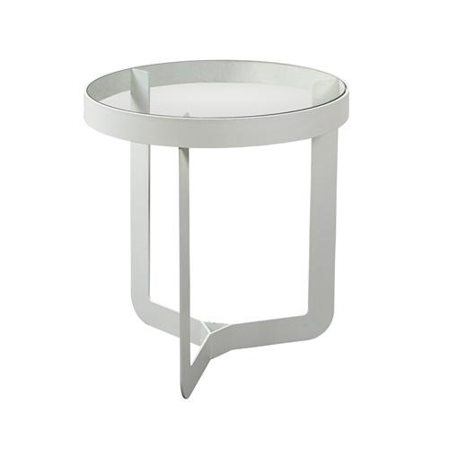 Spinder Design Douglas 1 Side Table ø 46x50 - White/Transparent Glass
