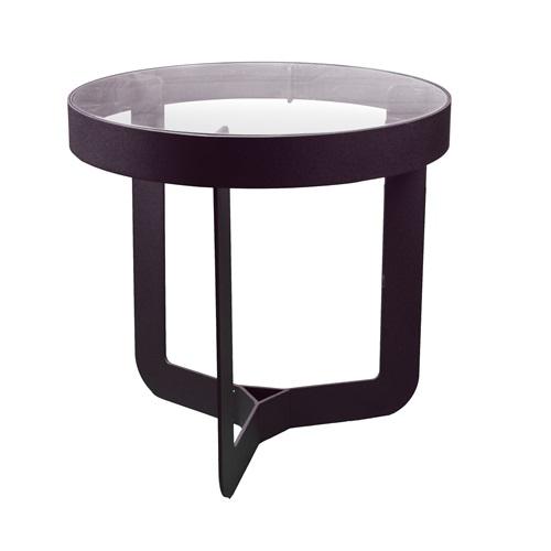 Spinder Design Douglas 1 Side Table ø 46x50 - Black/Transparent Glass