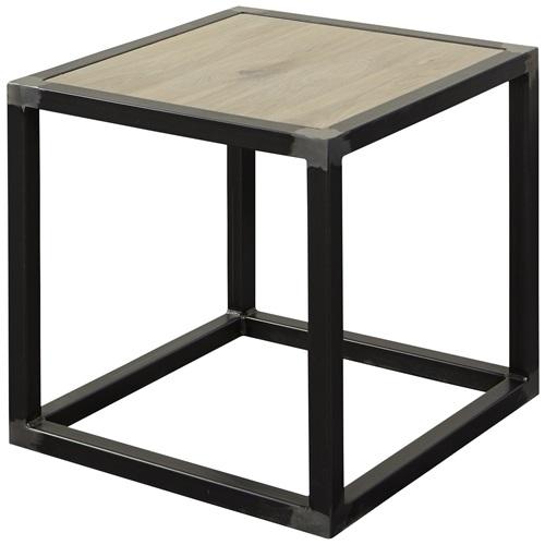 Spinder Design Diva Side Table 40x40x40 - Blacksmith/Oak table top