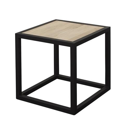Spinder Design Diva Side Table 40x40x40 - Black/Oak table top