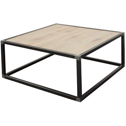 Spinder Design Diva Coffee Table 80x80x35 - Blacksmith/Oak table top