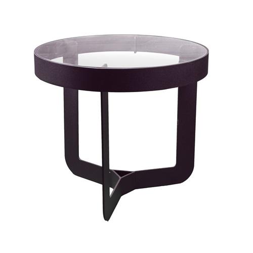 Spinder Design Douglas 2 Side Table ø 41x40 - Black/Transparent Glass