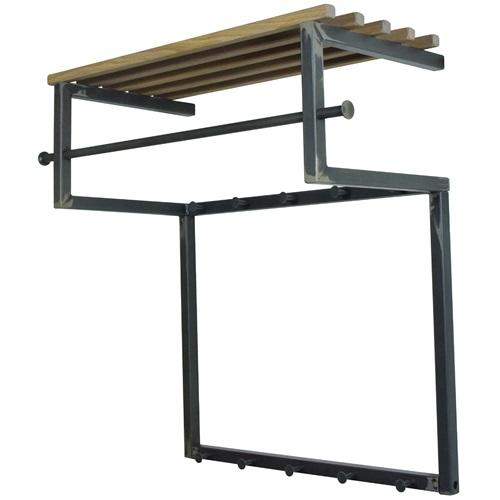 Spinder Design Rizzoli Wandkapstok 75x34x76 - Blacksmith/Eiken