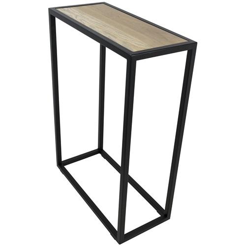 Spinder Design Diva Beistelltisch 66x30x90 - Schwarz/Eiche