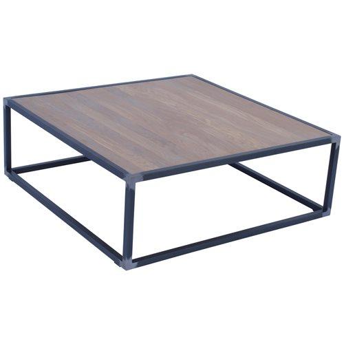 Spinder Design Diva Coffee Table 100x100x35 - Blacksmith/Oak