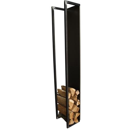 Spinder Design Cubic Fire Wandrek Houtopslag 30x24x167 - Blacksmith