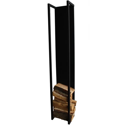 Spinder Design Cubic Fire Wandrek Houtopslag 30x24x167 - Zwart structuur