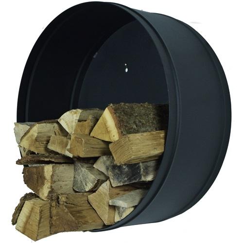Spinder Design Banshee - Holz Aufbewahrung ø 60 cm - Schwarz strukturiert