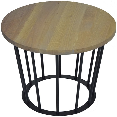 Spinder Design Framer Coffee Table Black/Oak - ø 50 cm