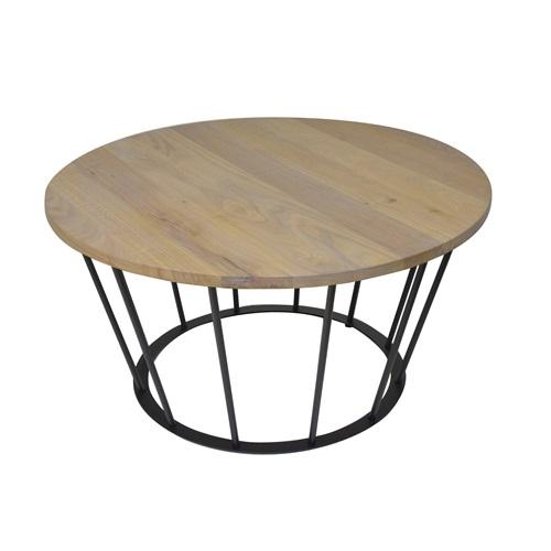Spinder Design Framer Couch Tisch Schwarz/Eiche - ø 80 cm
