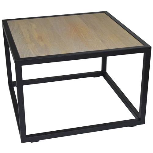 Spinder Design Diva Coffee Table 60x60x40 - Black/Oak table top