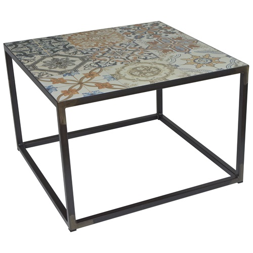 Spinder Design Ibiza Coffee Table 60x60x40 - Blacksmith/Tiles