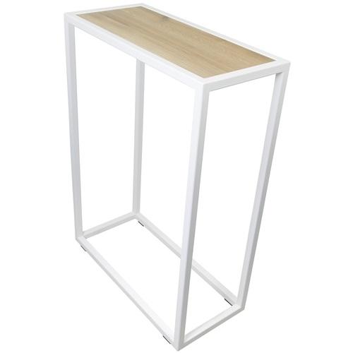 Spinder Design Diva Beistelltisch 66x30x90 - Weiß/Eiche