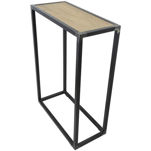 Spinder Design Diva Bijzettafel 66x30x90 - Blacksmith/Eiken