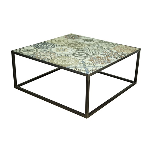 Spinder Design Ibiza Coffee Table 80x80x35 - Blacksmith/Tiles