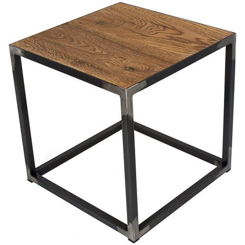 Spinder Design John Side Table 40x40x40 - Blacksmith/Oak