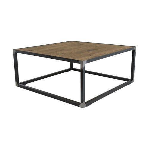 Spinder Design John Coffee Table 80x80x35 - Blacksmith/Oak
