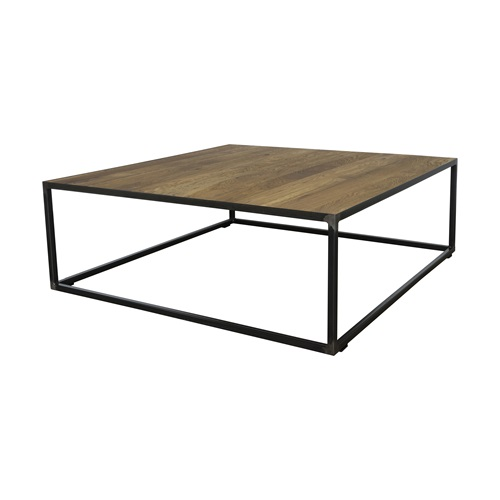 Spinder Design John Coffee Table 100x100x35 - Blacksmith/Oak