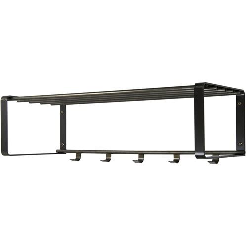 Spinder Design Rex 2 Wall Coat rack with 5 hooks 70x29x19 - Blacksmith