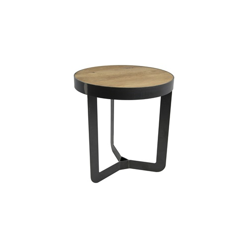 Spinder Design Douglas 2 Bijzettafel ø 41x40 - Blacksmith/Eiken