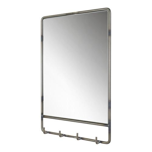 Spinder Design Clint Mirror with 4 Hooks 60x50x6 - Blacksmith