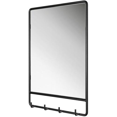Spinder Design Clint Mirror with 4 hooks 50x60 - Black