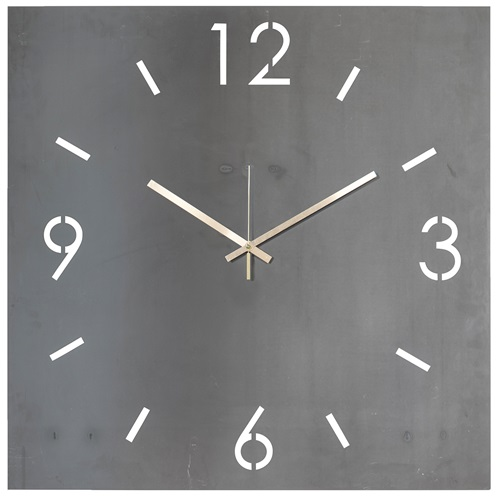 Spinder Design Time Wall Mounted Square Clock 40x40 - Blacksmith