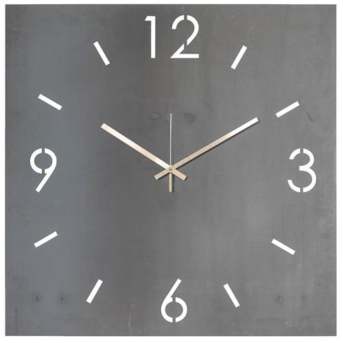 Spinder Design Time Wanduhr Quadrat 40x40 - Schmiedeeisern