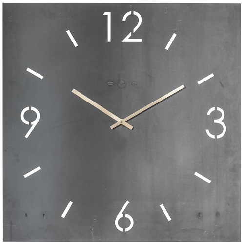 Spinder Design Time Wall Mounted Square Clock 60x60 - Blacksmith