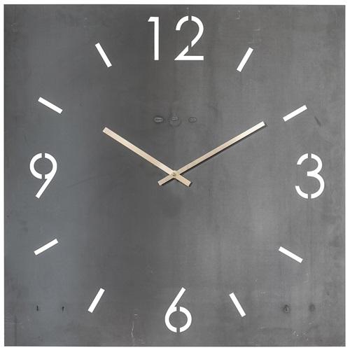 Spinder Design Time Wanduhr Quadrat 60x60 - Schmiedeeisern