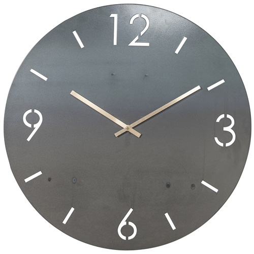 Spinder Design Time Wall Mounted Round Clock Ø 60cm - Blacksmith