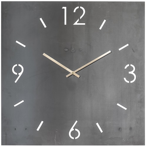 Spinder Design Time Wandklok Vierkant 80x80 - Blacksmith