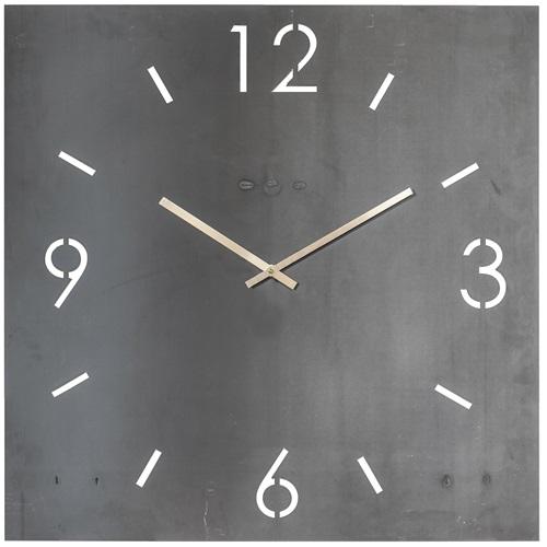 Spinder Design Time Wanduhr Quadrat 80x80 - Schmiedeeisern
