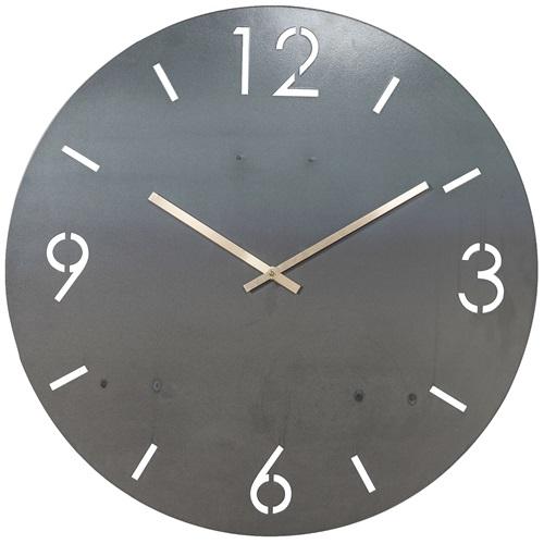 Spinder Design Time Wall Mounted Round Clock Ø 80cm - Blacksmith