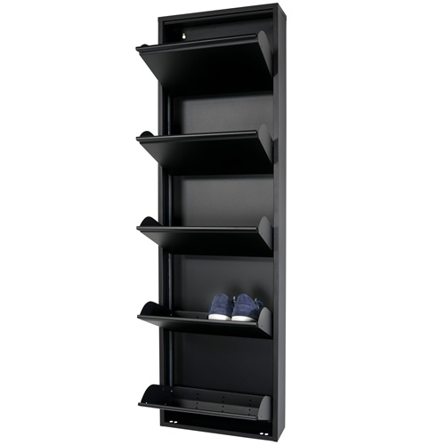Spinder Design Billy 5 Shoe cabinet with 5 compartments 50x15x169 - Black
