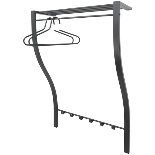 Spinder Design Carve 1 Wall Coat rack with 6 hooks 75x29x113 – Black