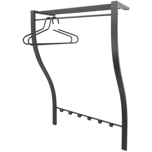 Spinder Design Carve 1 Wandgarderobe mit 6 Haken 75x29x113  - Schwarz