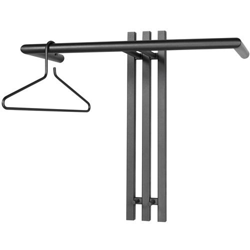 Spinder Design Senza 1 Wandgarderobe mit 2 Haken 65x28x63.5 - Schwarz