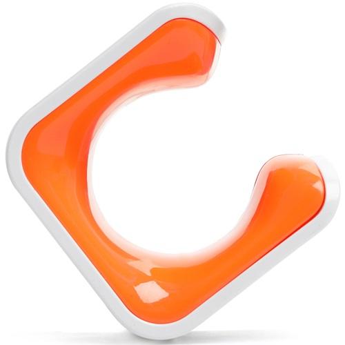 Clug Roadie Fiets Clip voor de muur - Wit/Oranje