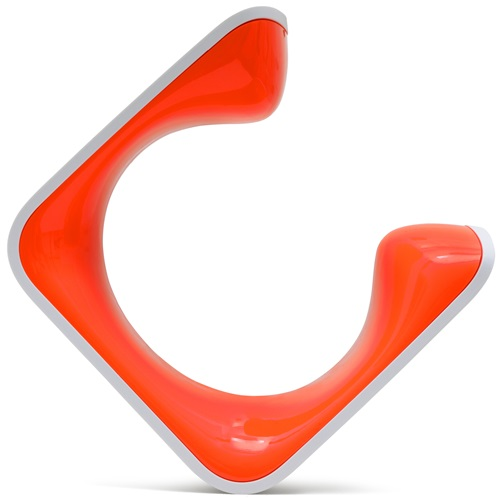Clug Plus Bike Clip Wall Mounted Rack - White/Orange