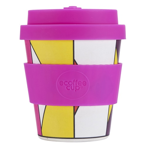 Ecoffee Cup Roxy '81 - Bamboo Cup - 175 ml - with Pink Silicone