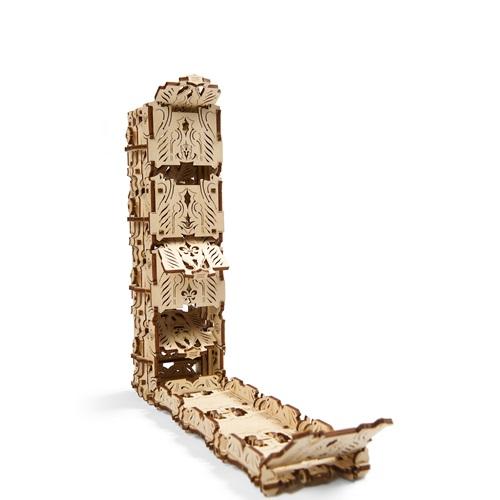 Ugears Wooden Model Kit - Modular Dice Tower - Games