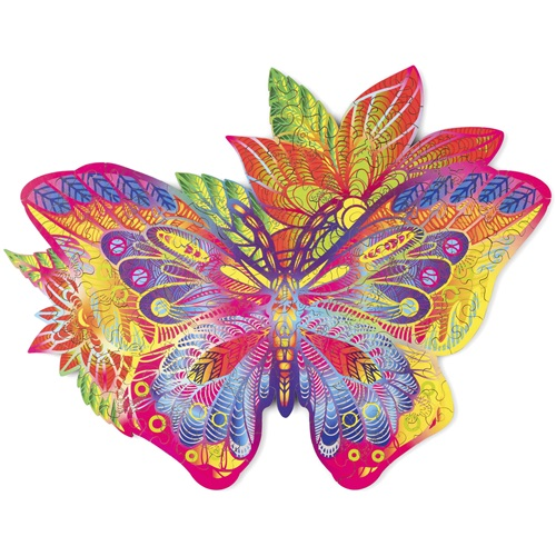 Wood Trick Jewel Butterfly - Shaped Jigsaw Puzzle Wood