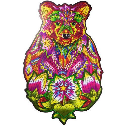 Wood Trick Spirit Bear - Shaped Jigsaw Puzzle Wood