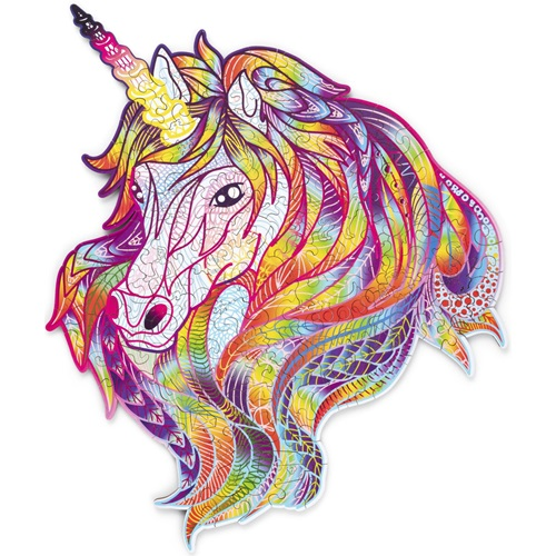 Wood Trick Sparkly Unicorn - Shaped Jigsaw Puzzle Wood
