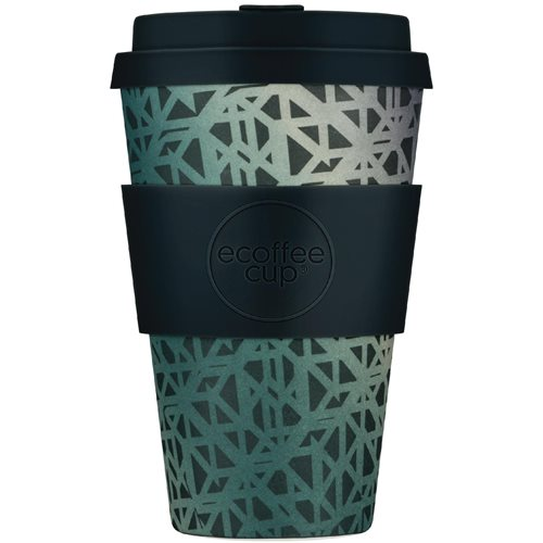 Ecoffee Cup Blackgate - Bamboo Cup - 400 ml - with Black Silicone