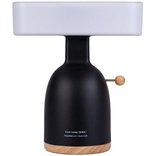 DesignNest Coinlamp DINA - Bureaulamp en Spaarpot - 24x12,5x27 cm