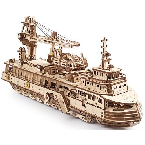 Ugears Houten Modelbouw - Onderzoeksschip