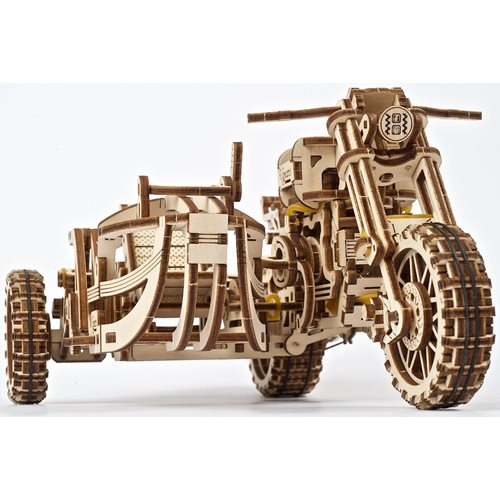Ugears Wooden Model Kit - Scrambler UGR-10 Motorcycle with Sidecar